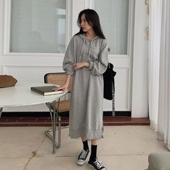 MERONGSHOP - Raglan Long Hoodie Dress