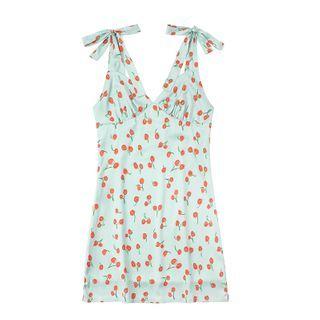 JIN STUDIOS - Sleeveless Print A-Line Dress