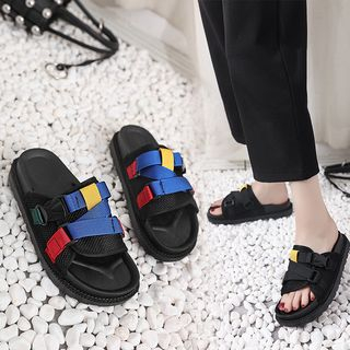 Mowin - Adhesive Strap Slide Sandals
