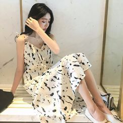Ilda - 印花细肩带直身连衣中裙