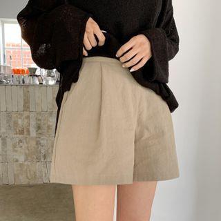 MERONGSHOP - A-Line Linen Shorts