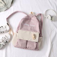 MUSA - 格子刺繡背包
