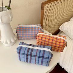 GULB - 格子化妆手提袋