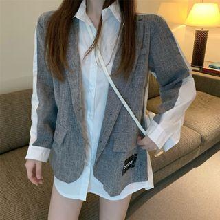 Magma - Mock Two-Piece Long-Sleeve Shirt