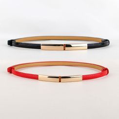 Goldenrod - Faux Leather Skinny Belt