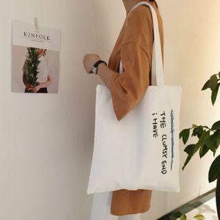 Milha - Lettering Canvas Tote Bag