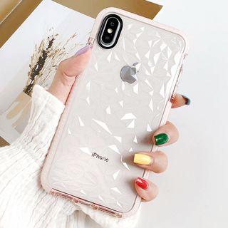 Mobby - Textured Transparent Mobile Case - iPhone XS Max / XS / XR / X / 8 / 8 Plus / 7 / 7 Plus / 6s / 6s Plus