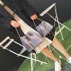 Rosanna Bags - Velvet Chain Strap Bucket Bag