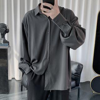 JUN.LEE - Long-Sleeve Plain Shirt