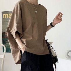 Bellobeam - 中袖纯色衬衫