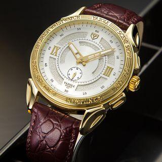 YAZOLE - 復古仿皮手錶