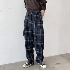 ANCHO - Tie-Waist Straight-Cut Pants