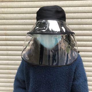 SPADAM - Gorro de pescador + Pantalla facial transparente