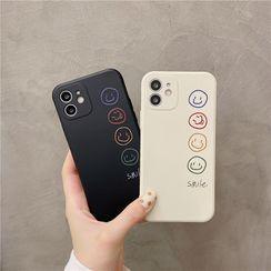 Zone Zero - Smiley Phone Case - iPhone 12 Pro Max / 12 Pro / 12 / 12 mini / 11 Pro Max / 11 Pro / 11 / SE / XS Max / XS / XR / X / SE 2 / 8 / 8 Plus / 7 / 7 Plus