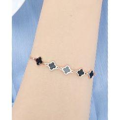 Miss21 Korea - Clover Chain Bracelet