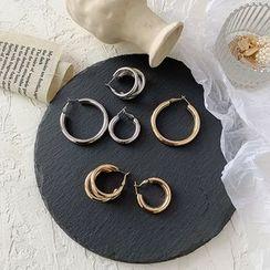 Admae - 合金圈环耳环