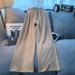 meimay - 羅紋針織寬腿褲