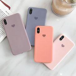 Mobby - Heart Print Phone Case - iPhone 6 / 6 Plus / 7 / 7 Plus / 8 / 8 Plus / X / Xr / Xs / Xs Max