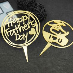 Nastaccey - Acrylic Father's Day Cake Topper