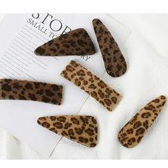 Annamae - Furry Leopard Print Hair Clip