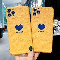 Mobby - 心心印花手機保護套 - iPhone 11 Pro Max / 11 Pro / 11 / XS Max / XS / XR / X / 8 / 8 Plus / 7 / 7 Plus / 6s / 6s Plus