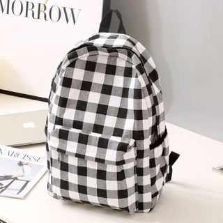 Bianka - Checked Lightweight Backpack