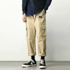 DuckleBeam - Printed Letter Cargo Pants