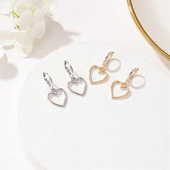 Cheermo - Heart Drop Earrings