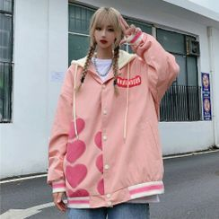 2DAWGS(2ドーグス) - Heart Hooded Baseball Jacket