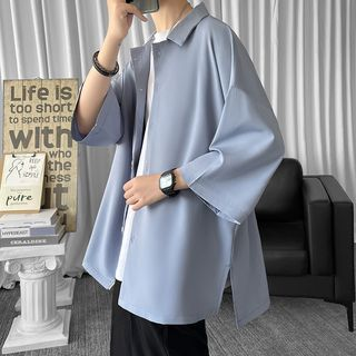 Priam - 七分袖纯色衬衫