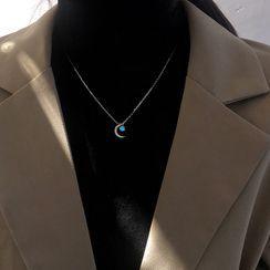 Metallique - Moon Necklace