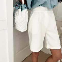 NANING9(ナンニング) - Wide-Leg Bermuda Shorts