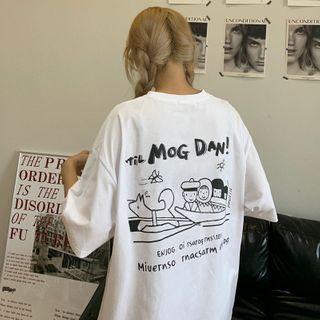 PINPI - Short-Sleeve Cartoon Print T-Shirt