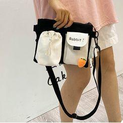 Felicity(フェリシティ) - Two-Tone Canvas Crossbody Bag