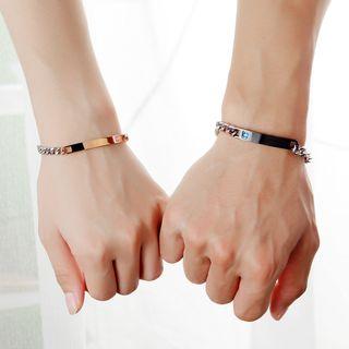Tenri - Couple Matching Stainless Steel Bar Bracelet