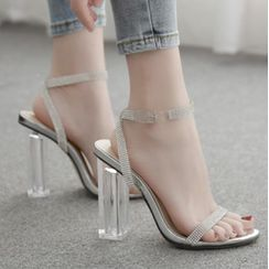 Niuna - Transparent Strap High Heel Sandals