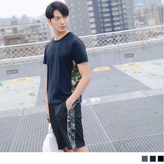 OrangeBear - Camo Panel Short Sleeve Sport T-Shirt