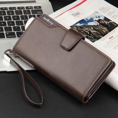 ETONWEAG(エトンウィーグ) - Plain Faux Leather Long Wallet