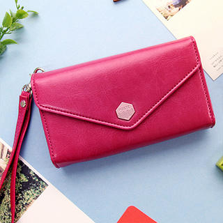 iswas - Faux-Leather Envelope Mobile Pouch