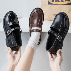 Yuki Yoru - Buckled Platform Loafers