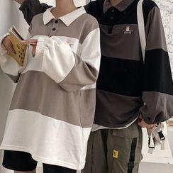Cloud Nine - 情侶款插色長袖馬球衫