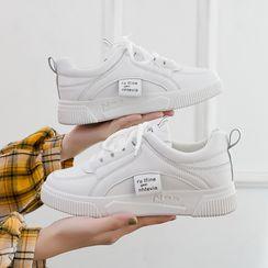 Shanhoo - 厚底繫帶休閒鞋