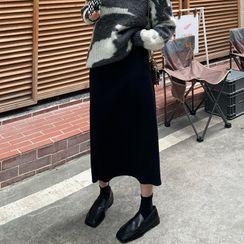 Tonni's - Slit Knit Skirt