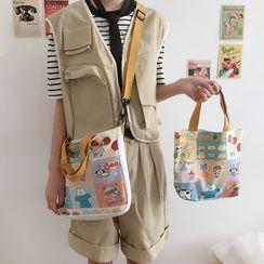 Sacculi - Print Canvas Tote Bag / Crossbody Bag