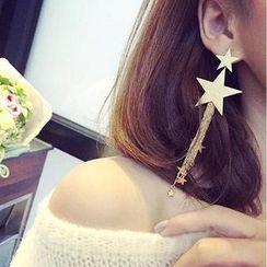 Ignar - Star Fringed Drop Earrings