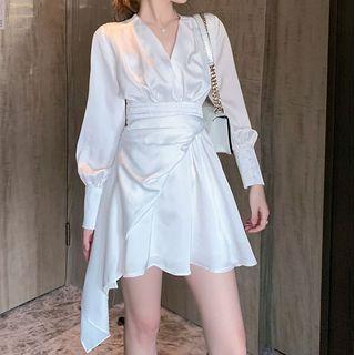 Staan - Long-Sleeve Mini A-Line Dress