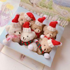 Hello minto - 毛絨聖誕熊胸針