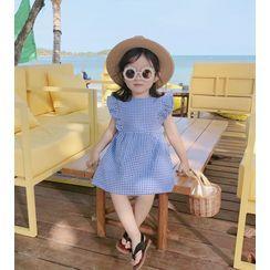 Cerula - Kids Gingham Sleeveless A-Line Dress