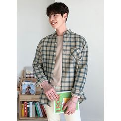 JOGUNSHOP - Pocket-Front Glen-Plaid Shirt