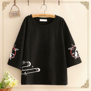Kawaii Fairyland - 3/4-Sleeve Print T-Shirt